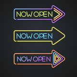 Glowing Neon Signs. Vector Royalty Free Stock Photo