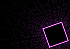 Glowing Neon Square Background Stock Photos