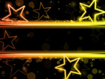 Glowing Neon Stars Royalty Free Stock Photos