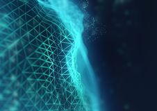 Glowing Network Connections Background stock illustration