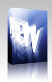 Glowing new sign box package Royalty Free Stock Image