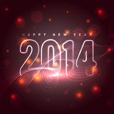 Glowing new year design. Beautiful shiny glowing new year 2014 background Stock Photography