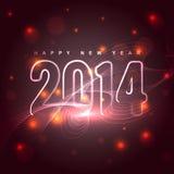 Glowing new year design. Beautiful shiny glowing new year 2014 background royalty free illustration