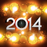 Glowing new year lights. Beautiful glowing lights of happy new year vector illustration