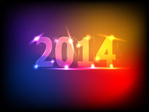 Glowing New Year Numerals Background. Colorful 2014 New Year background  illustration Royalty Free Stock Image
