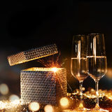 Glowing new year's eve congratulations Royalty Free Stock Photography