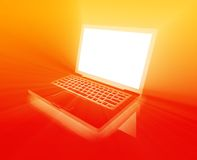 Glowing notebook technology Royalty Free Stock Photo