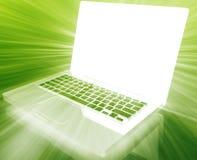 Glowing notebook technology Stock Photo