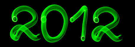 Glowing numbers 2012 Royalty Free Stock Photography