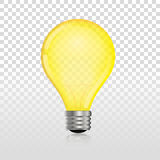 Glowing off electric light bulb Stock Photos