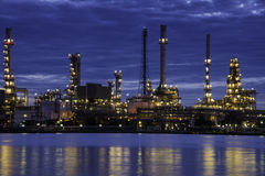 Glowing Oil Refinery Stock Photos