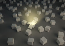 Glowing open box Royalty Free Stock Photography