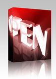 Glowing open sign box package Royalty Free Stock Images