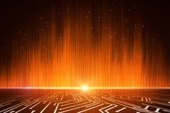 Glowing orange rays background royalty free illustration