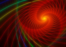 Glowing orange fractal swirl. On dark background Stock Photography
