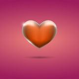 Glowing orange heart on pink background. Eps10 Royalty Free Stock Image