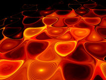 Glowing orange lava in hell Stock Photos