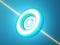 Glowing orb on blue Stock Image