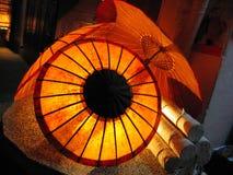 Glowing paper lantern Stock Photography