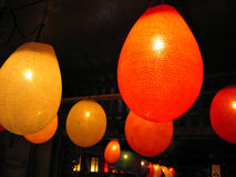 Glowing paper lanterns Stock Photos
