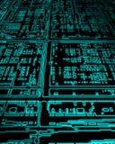 Glowing pc circuit board Stock Photo
