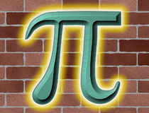 Glowing Pi Royalty Free Stock Images