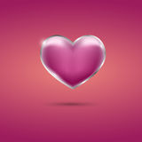Glowing pink heart with frame on pink background. Eps10 Royalty Free Stock Photography