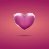 Glowing pink heart on pink background. Vector eps10 Stock Photos