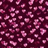 Glowing pink hearts sequins background. Stock Photography
