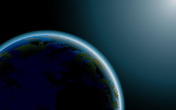 Glowing planet Earth Stock Photo