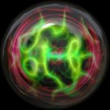 Glowing plasma. Plasma ball glowing in green neon color stock illustration