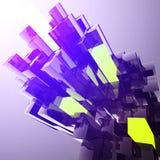 Glowing plastic blocks Royalty Free Stock Images