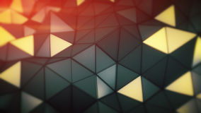 Glowing polygonal surface. Abstract 3D render Royalty Free Stock Photo