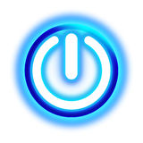 Glowing power button Royalty Free Stock Photography