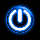 Glowing power button Royalty Free Stock Images