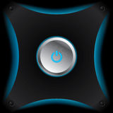 Glowing power button Royalty Free Stock Image
