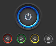 Glowing power buttons Royalty Free Stock Photo