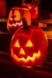 Glowing Pumpkin Royalty Free Stock Photography