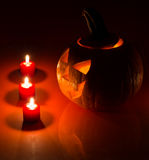Glowing Pumpkin Royalty Free Stock Images