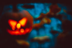 Glowing pumpkin symbolizing the head of old Jack Royalty Free Stock Image