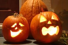 Glowing Pumpkins Stock Image