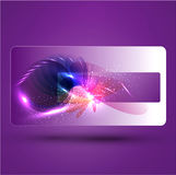 Glowing Purple  abstract background Stock Photos