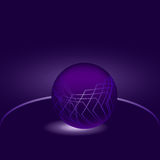 Glowing purple ball abstraction. On a dark blue background Stock Photo