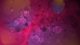Glowing purple bokeh lights particles motion background