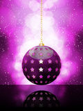 Glowing Purple Christmas Bauble Royalty Free Stock Images