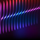 Glowing purple curved lines background presentation Stock Image