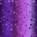 Glowing purple diamond background. Seamless vector pattern Stock Photos
