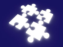 Glowing Puzzle Solution vector illustration