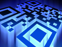 Glowing QR code Stock Images