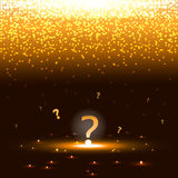 Glowing question mark with sparks Stock Photo